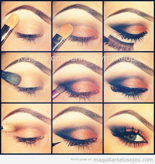 Tutorial Paso A Paso Para Maquillaje De Ojos Bisuteria Coketa - Paso-a-paso-como-pintarse-los-ojos