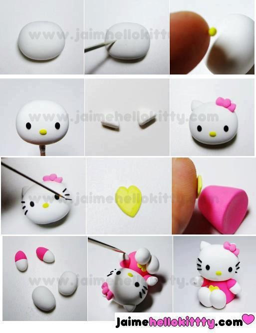 Paso a Paso para elaborar esta hermosa Hello Kitty en Masa ...