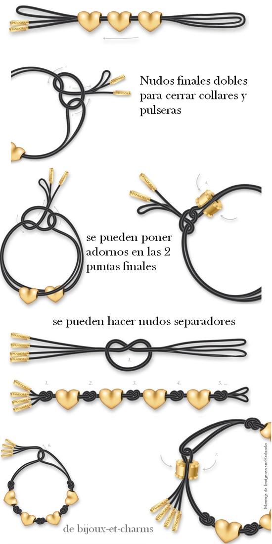 Ideas para cerrar collares o pulseras con nudos - Nudos marineros para pulseras ...