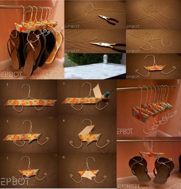 Paso a paso para diseñar un hermoso colgador para tus zapatos.