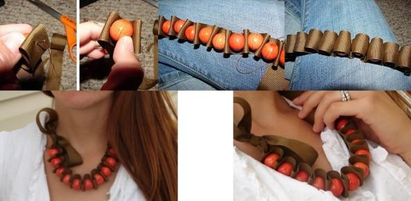 Paso a paso para realizar este bello collar.