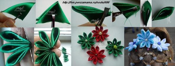 Ideas para hacer flores de tela.