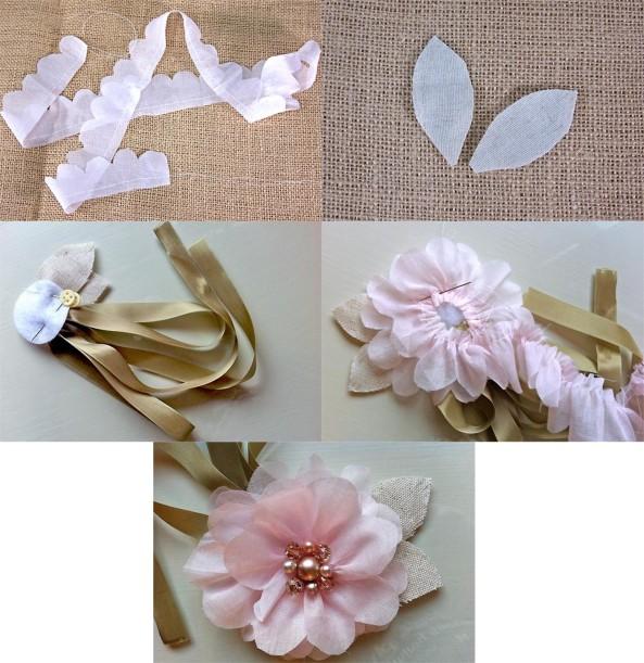Paso a paso para hacer esta delicada flor de tela - Hacer bolsos de tela paso a paso ...
