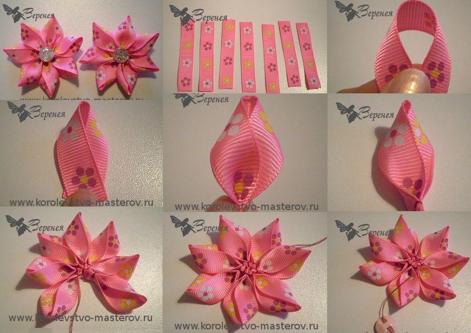 Paso a paso para hacer flores de tela. | Bisuteria Coketa