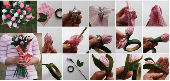Paso a paso para hacer flores con cintas o tela