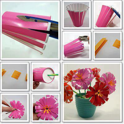 Paso a paso para hacer flores con vasos Plásticos. Recicla!!!