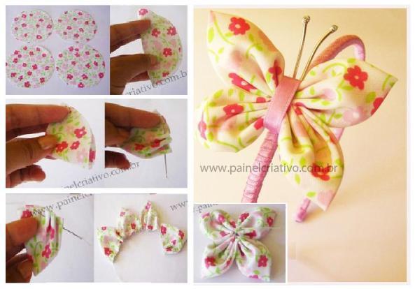 Paso a paso para hacer esta bella mariposa en tela