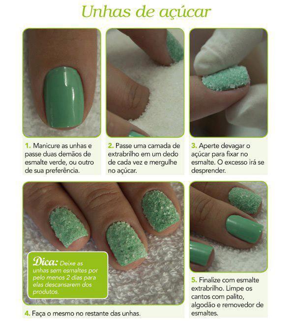 decorar unha branca:Ideas para decorar tus uñas de Azúcar
