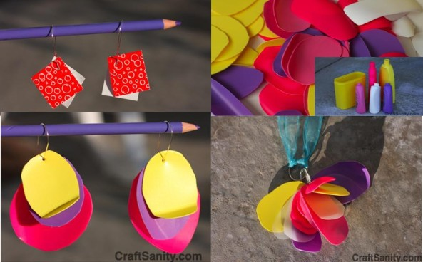 Ideas para hacer Zarcillos. Recicla!!!