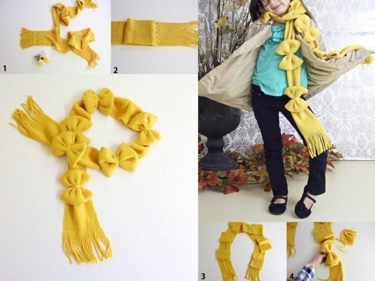 Paso a paso para hacer una bufanda con lazos