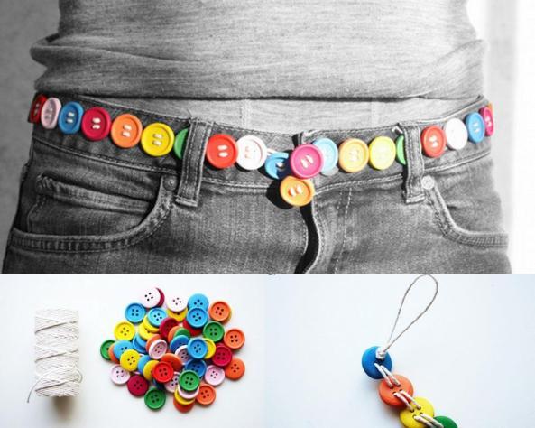 Super fácil... cinturón con botones!!!
