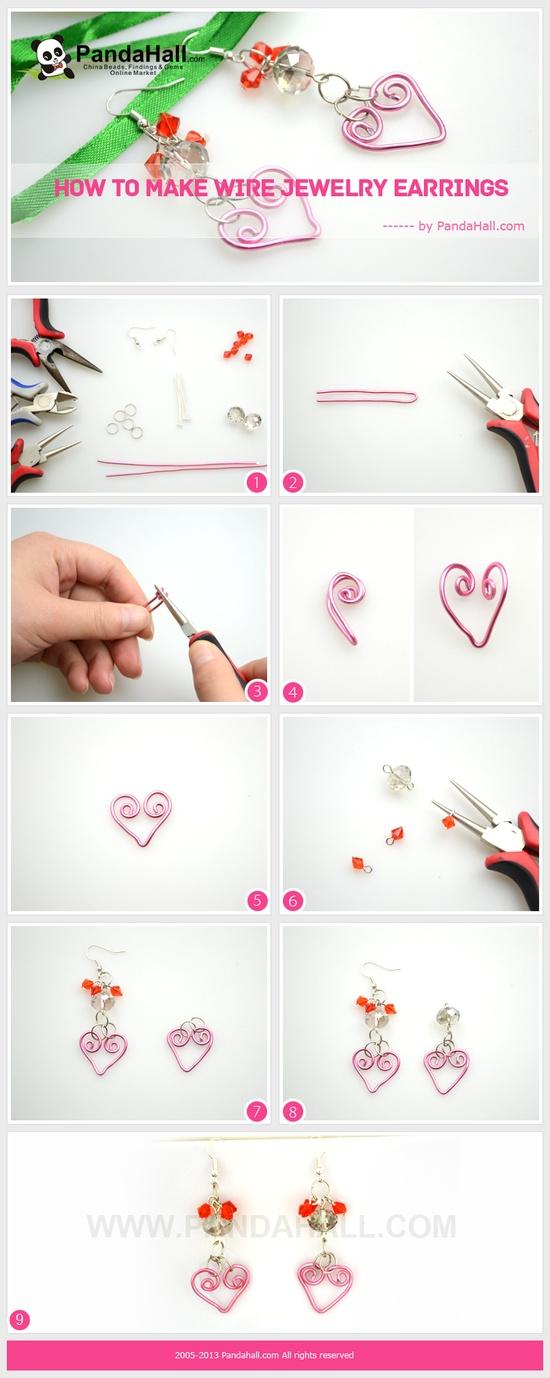 Paso a paso para hacer estos lindos corazones en alambre.
