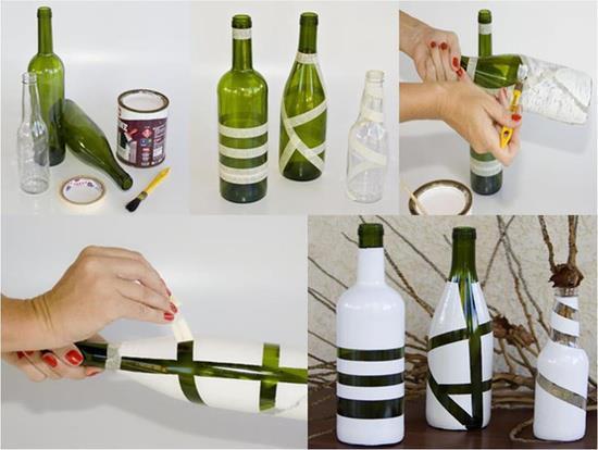 Ideas para decorar las botellas de v 237 drio bisuteria coketa