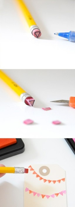 Ideas para Decorar con un borrador de lápiz