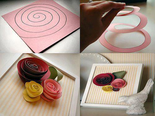Ideas paso a paso para hacer flores de papel