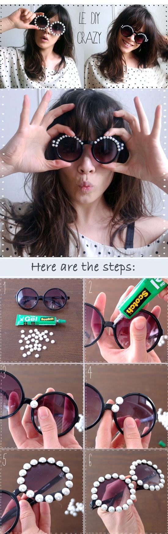 Ideas paso a paso para decorar tus Lentes o gafas de sol