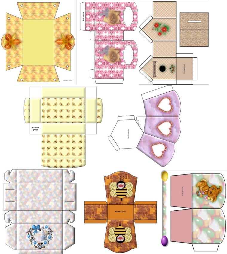 Patrones para cajas de regalo