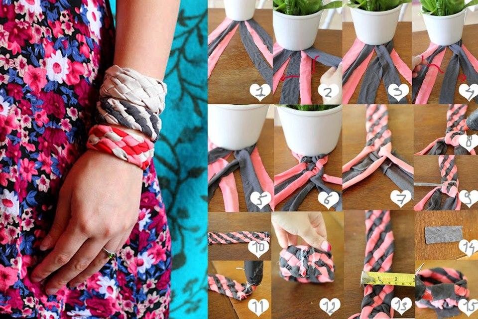 Paso a paso para hacer pulseras de tela bisuteria coketa - Bisuteria para hacer en casa ...