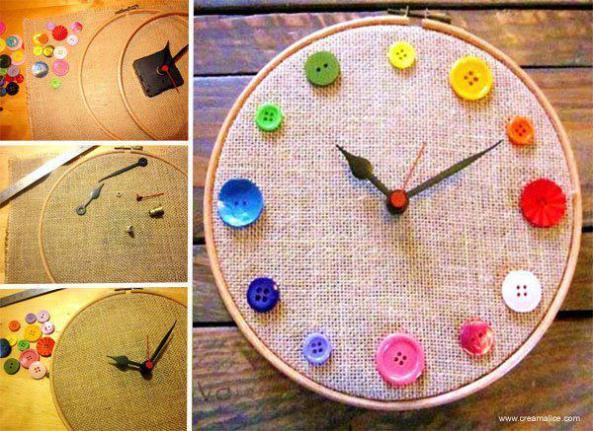 Ideas para realizar este hermoso reloj de pared
