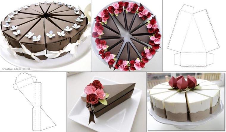 Ideas para Fiestas. Original cajita para tortas.