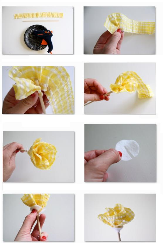 Ideas paso a paso para hacer flores de tela