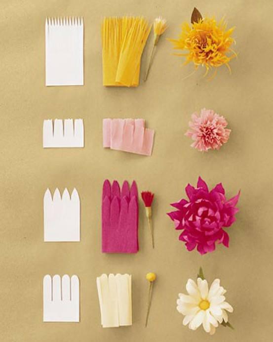 Ideas para hacer flores de Papel