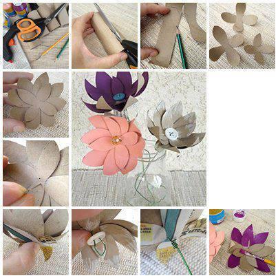 Paso a paso para hacer flores de cartón o cartulina