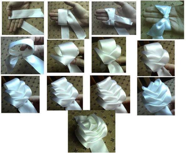 Бант из ткани мастер класс