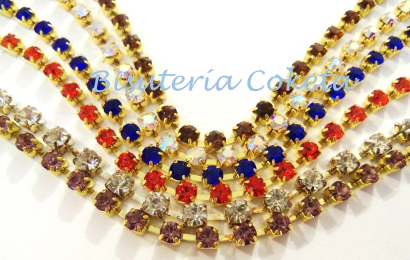 Disponible!!! Strass de Colores de 3 y 4 mm