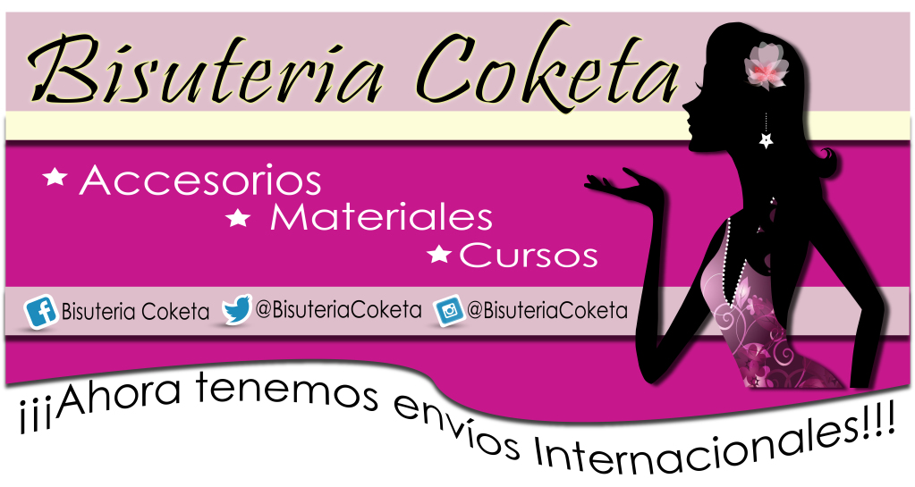 de Bisuteria Coketa \u2022 Publicado en Actividades \u2022 Etiquetado como abalorios, Accesorios, argentina, Bisuteria, bolivia, chile, colombia, cursos, ecuador,