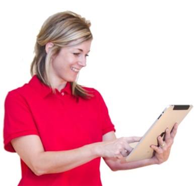 mujer tableta ipad check revisar bisuteria paso a paso gratis