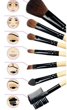 tipos de brochas maquillaje make up