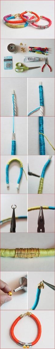 pulseras manillas brazaletes hilos colores