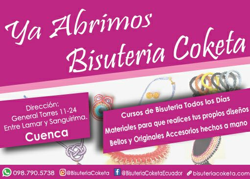 tienda bisuteria coketa cuenca ecuador calle general torres y lamar